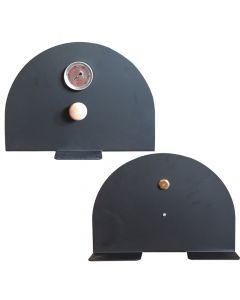 Porte en métal pour four extérieur - autonome - VITCAS