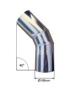 Conduite de cheminée avec angle à 45 degrés - VITCAS
