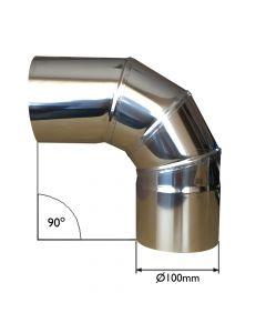 Conduite de cheminée avec angle à 90 degrés - VITCAS