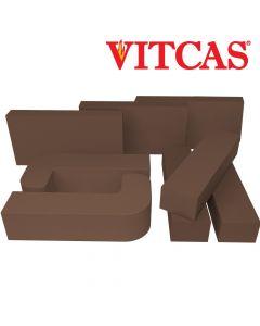 VITCAS briques réfractaires -marron - VITCAS