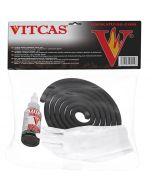 Corde D'étanchéité Noire Pour Poêle + Colle (Kit) - VITCAS